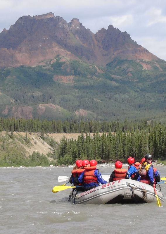 Experience the thrills of whitewater rafting as you float down Denali's Nenana River