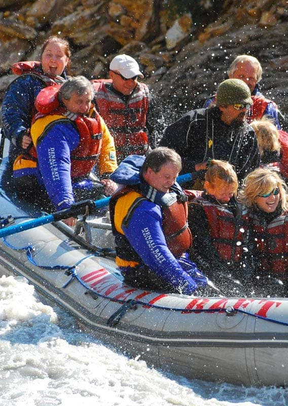 Raft the whitewater rapids of Denali's Nenana River