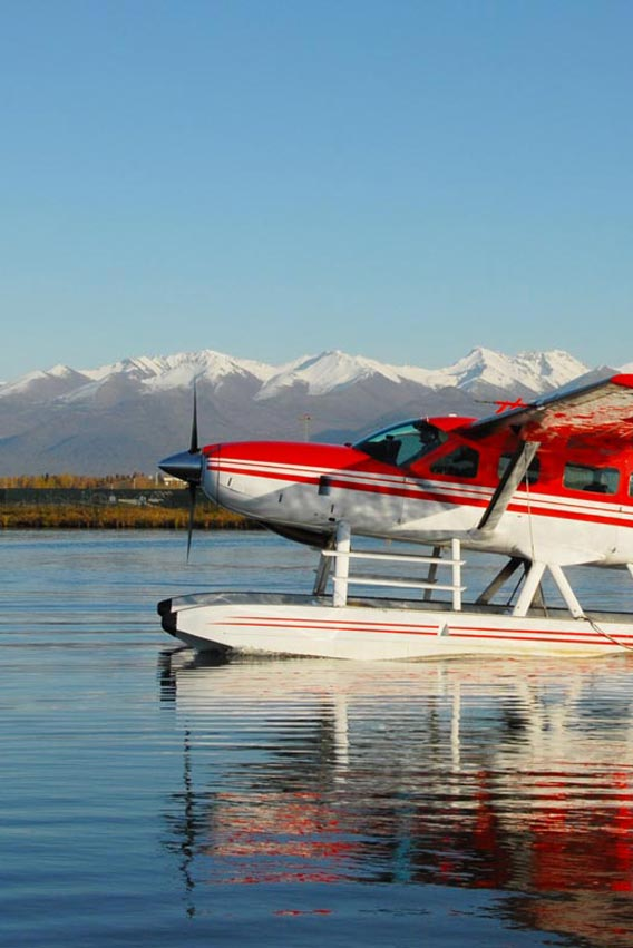 Depart from Anchorage at the world's busiest seaplane base