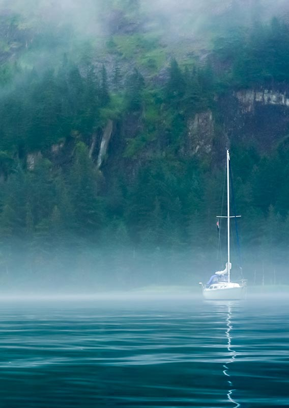 Boat on the water in Kenai Fjords National Park