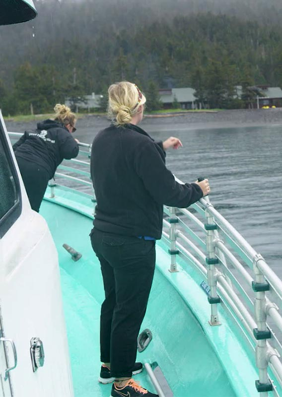 Deckhands on a boat at Kenai Fjords