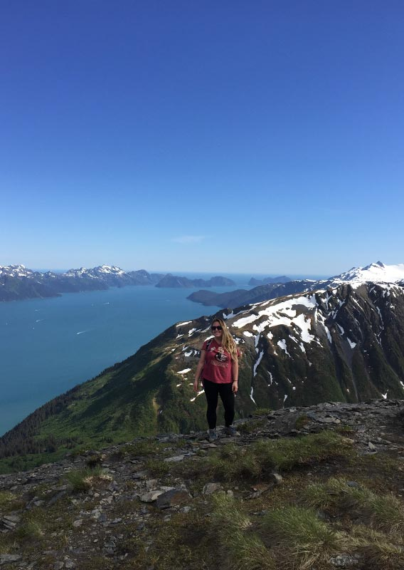 Hiker on Mount Marathon, Seward