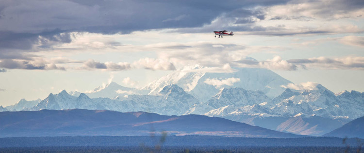 Flight seeing close to Denali