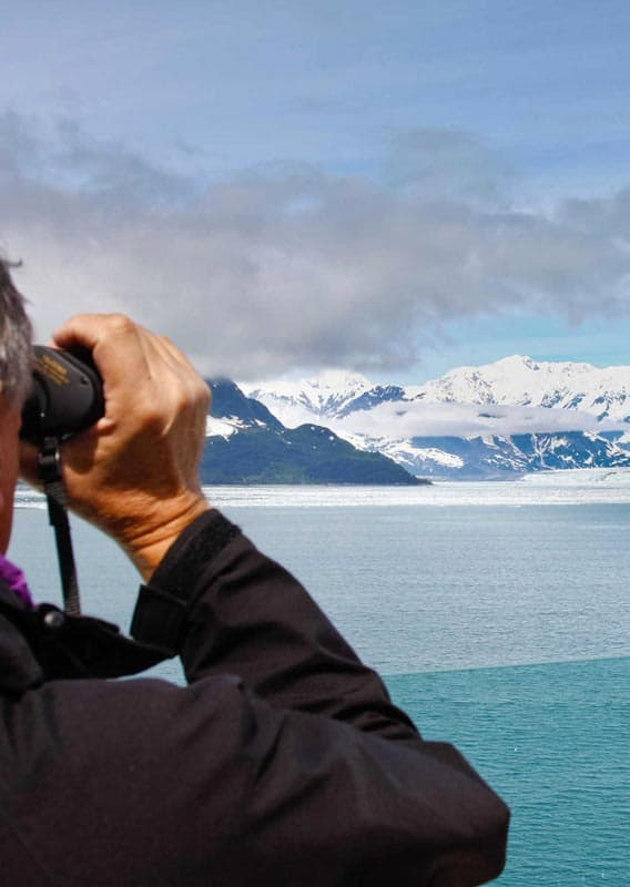 Glacier viewing from on board a cruise