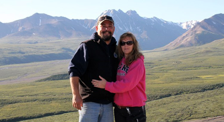 Our contest winner Laurie Baird and her husband Richard in Denali