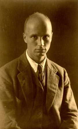 A sepia-toned portrait of Rockwell Kent.